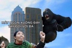 Chết cười ảnh chế diễn viên quần chúng diễn cảnh sợ hãi trong phim King Kong