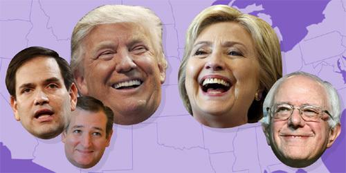 Hillary và Donald Trump thắng áp đảo trong ngày Siêu Thứ Ba
