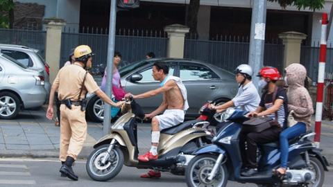 Hà Nội ra quân 'dẹp' thanh niên ngổ ngáo vi phạm giao thông