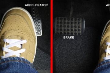 Cách hạn chế lỗi nhầm chân phanh và chân ga