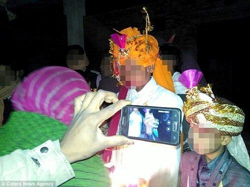 Ấn Độ, cô dâu, đám cưới, trẻ em