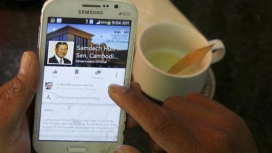 Campuchia, Thủ tướng Hun Sen,chống tham nhũng, facebook