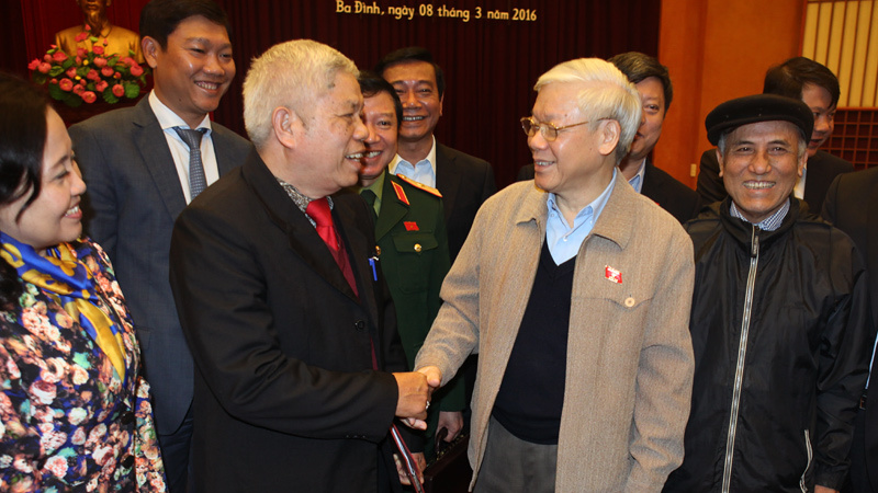 Tổng bí thư Nguyễn Phú Trọng, Đinh La Thăng, bầu cử QH