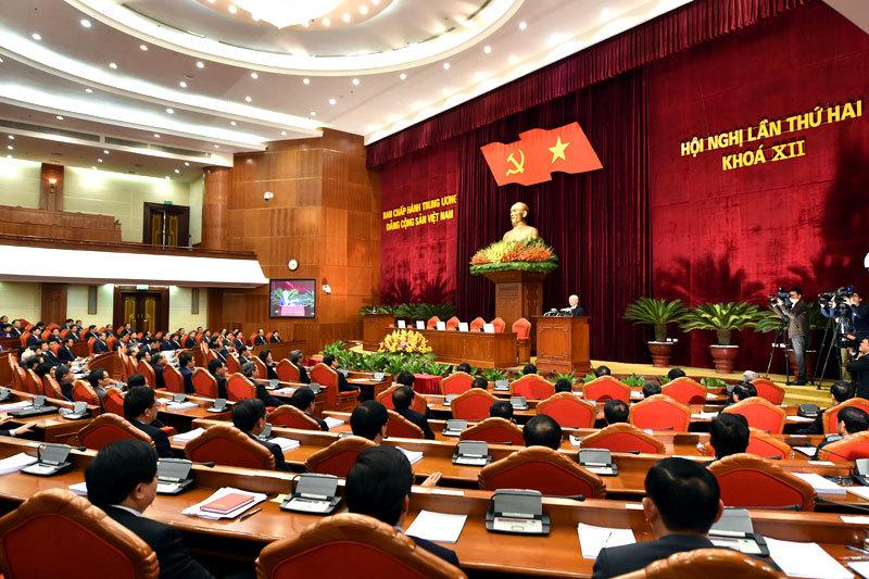 Bế mạc Hội nghị Trung ương 2 khóa 12