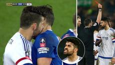 Costa nhận thẻ đỏ vì