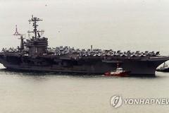 Hình ảnh siêu mẫu hạm Mỹ cập cảng Hàn Quốc