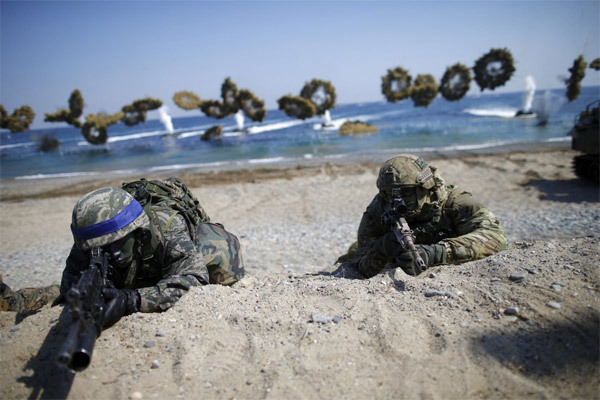Mỹ, Hàn, tập trận Mỹ - Hàn, Triều Tiên, Kim Jong-un, tức giận, đe dọa, Đại bàng Non, Giải pháp Then chốt