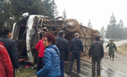 Xe khách gây tai nạn ở Sa Pa, nhiều người thương vong