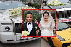 Dàn siêu xe 'khủng' nhất từ trước tới nay trong lễ rước dâu của Á hậu Trà My