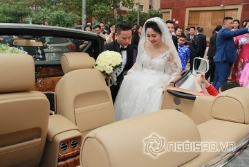 Dàn xe 'khủng' nhất từ trước tới nay trong lễ rước dâu của Á hậu Trà My