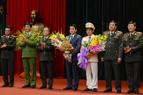 Tướng Nguyễn Đức Chung, Chủ tịch Hà Nội Nguyễn Đức Chung, tân Giám đốc công an TP Hà Nội, Đoàn Duy Khương