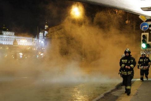 Điện Kremlin mù mịt khói