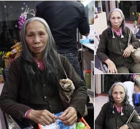 cắt tóc làm đẹp,cụ bà 70 làm tóc xoăn. miễn phí làm tóc xoăn cho bà cụ,