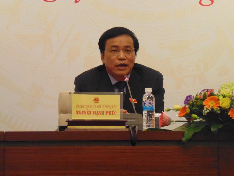 Tổng thư ký QH Nguyễn Hạnh Phúc, tự ứng cử, bầu cử đại biểu QH