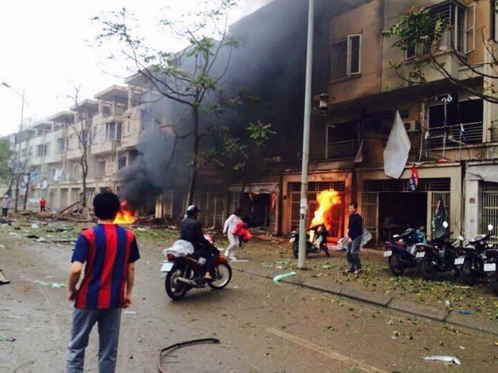 Nổ lớn ở khu đô thị Văn Phú Hà Đông làm 6 người thương vong