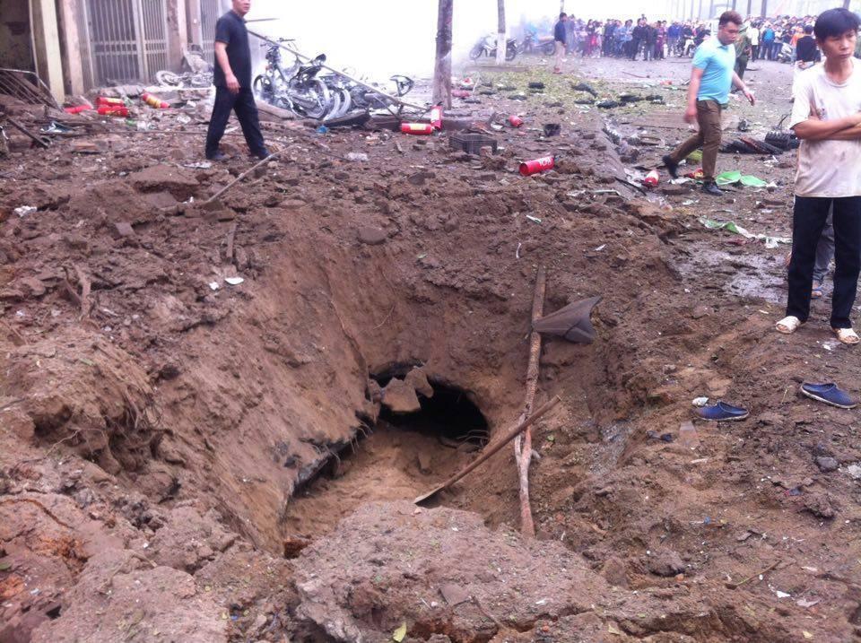 Hiện trường vụ nổ kinh hoàng tại khu đô thị Văn Phú