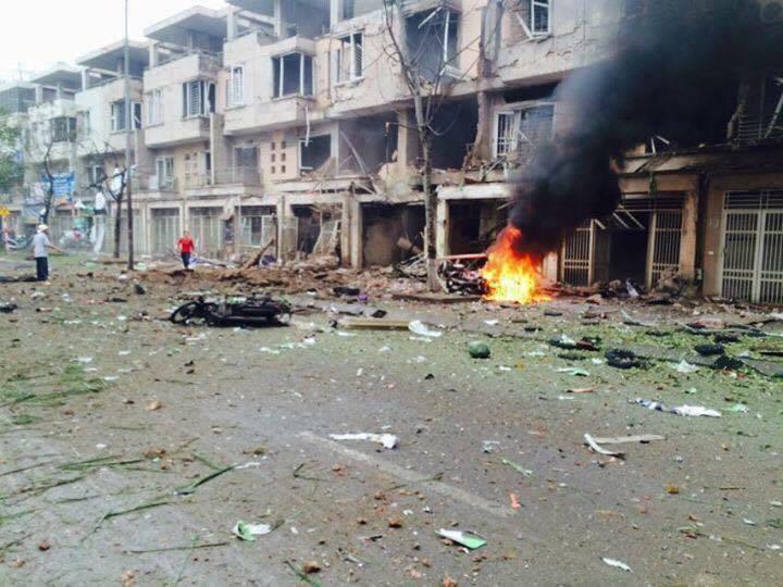 Cưa bom ở Văn Phú, Vụ nổ ở Văn Phú, cưa bom