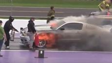 'Bà hỏa' thiêu rụi Ford Mustang trơ khung chỉ sau 2 phút