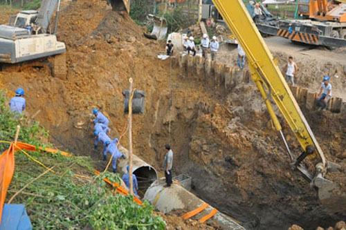 đường ống nước sông Đà, tuyến ống nước sông Đà số 2, vỡ ống nước sông Đà, nhà thầu Trung Quốc