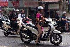 """Sốc với hình ảnh """"quên mặc quần"""" của phụ nữ Hà thành"""