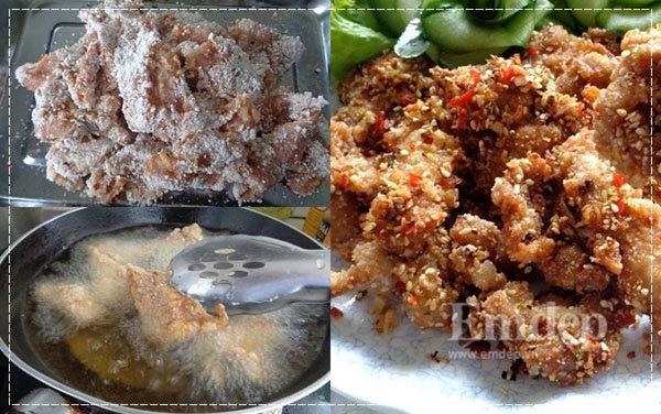 Thịt thăn heo chiên sả ớt cho bữa cơm ngày bận rộn