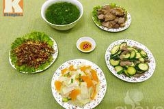 Bữa cơm thơm ngon và hấp dẫn cho cả nhà