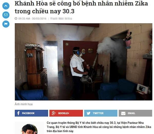 Bộ Y tế phủ nhận 4 ca nhiễm Zika tại Khánh Hòa