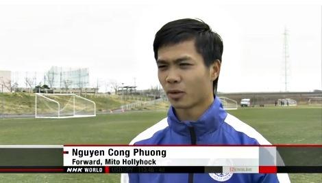 Kênh truyền hình NHK World đưa tin về Công Phượng