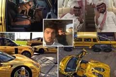 Xem đại gia lái xe mạ vàng săn lạc đà trên sa mạc