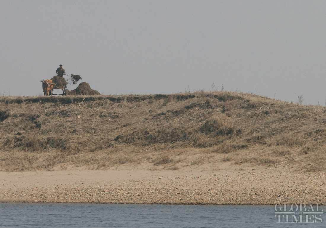 Hình ảnh Triều Tiên nhìn từ bên kia biên giới