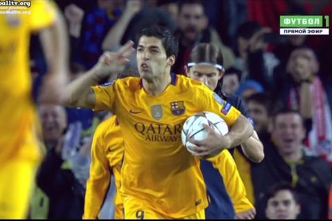 Suarez đệm bóng cận thành san bằng tỷ số