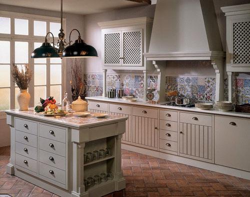 trang trí nhà, trang trí bếp, mẫu căn bếp đẹp, gạch bông Ma-rốc