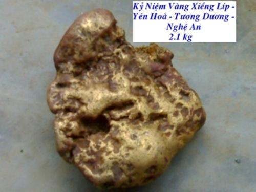 'Đại gia' nhặt được cục vàng 2,1kg phải sang Trung Quốc làm thuê