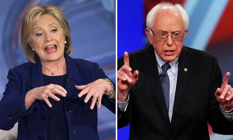 Hillary Clinton cãi vã kịch liệt với đối thủ
