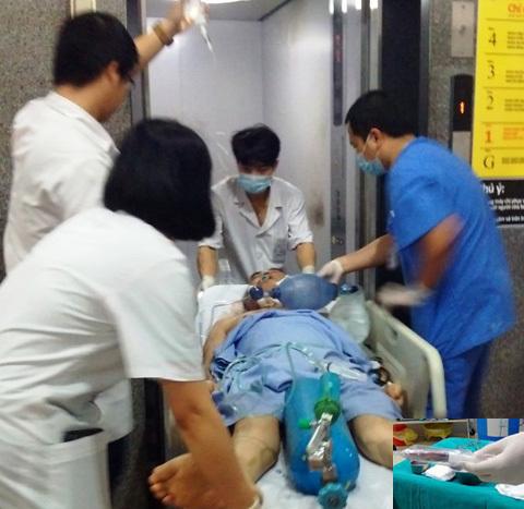 Đang cấp cứu, mặt bệnh nhân bất ngờ căng phồng