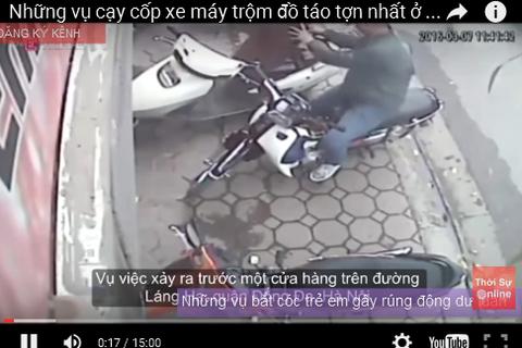 Những vụ cạy cốp xe máy trộm đồ táo tợn nhất ở Việt Nam