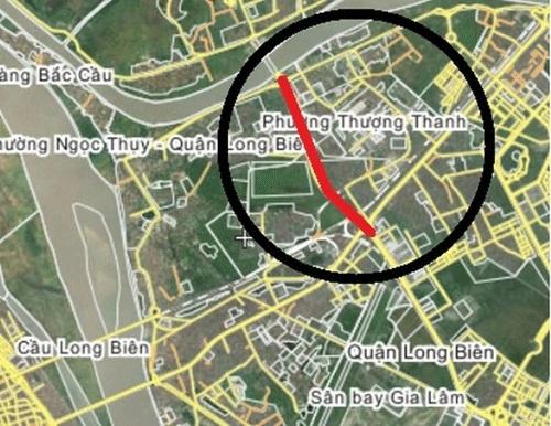 khu đô thị mới Thượng Thanh, Long Biên, Công ty Cổ phần Khai Sơn, đê Ngọc Thụy