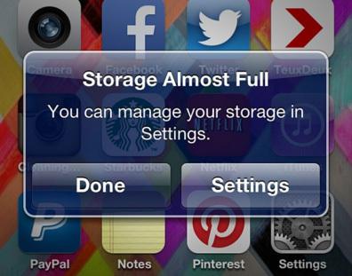 Mẹo tiết kiệm bộ nhớ iPhone/iPad siêu đơn giản