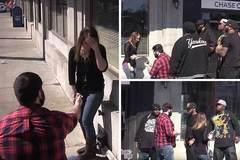 Xem màn cầu hôn khiến bạn gái sợ tái mặt