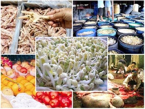 Thực phẩm bẩn, thức ăn, chợ, ung thư,