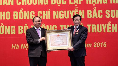 Bộ TT&TT, Nguyễn Bắc Son, Huân chương độc lập