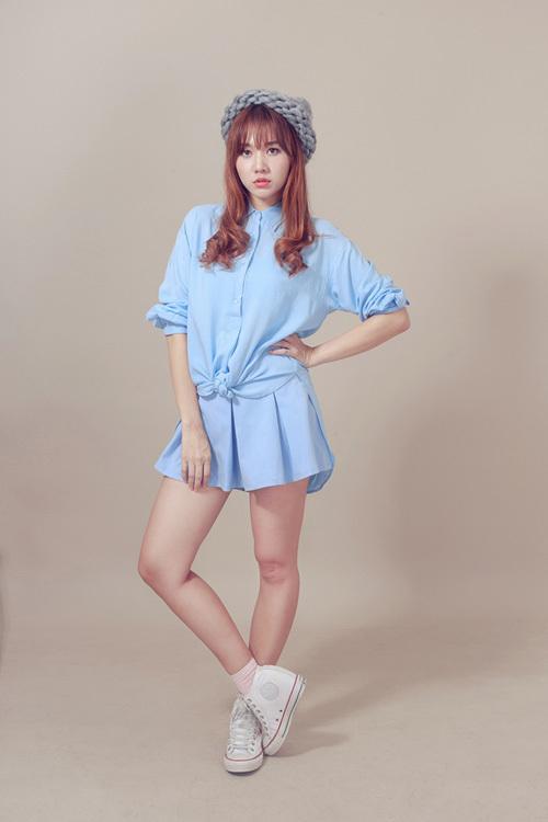 Bạn gái Trấn Thành trẻ ra 10 tuổi nhờ thời trang