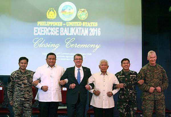 Philippines, Bộ trưởng Quốc phòng Mỹ Ashton Carter
