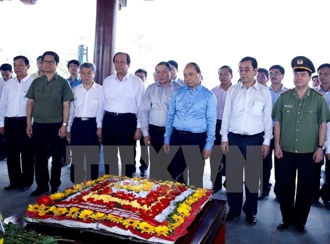 Thủ tướng Nguyễn Xuân Phúc, nghĩa trang Trường Sơn, Quảng Trị