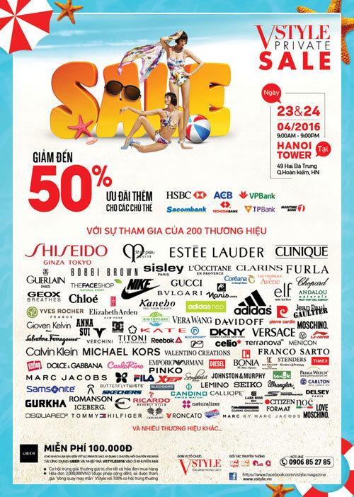 200 thương hiệu cao cấp giảm 50% tại Hà Nội