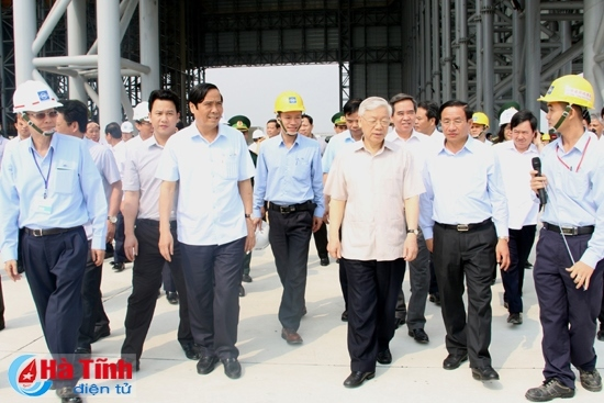 Tổng bí thư kiểm tra tiến độ dự án Formosa