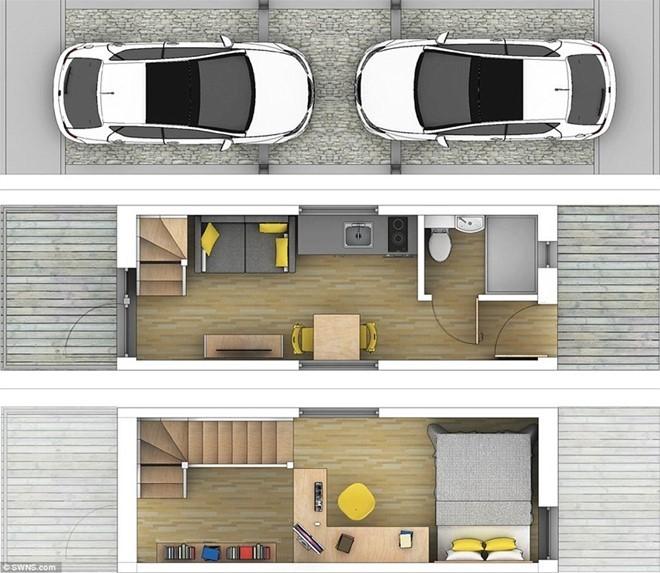 Bên trong căn nhà siêu mỏng 7m2 có chỗ đỗ xe