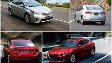 Toyota Corolla Altis và Mazda 3 sedan: Giai trẻ đấu cựu binh