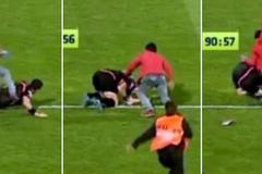 Hi hữu: CĐV lao xuống sân đánh trọng tài biên túi bụi