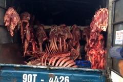 Hà Nội: Một đêm CSGT bắt 3 xe thực phẩm bẩn